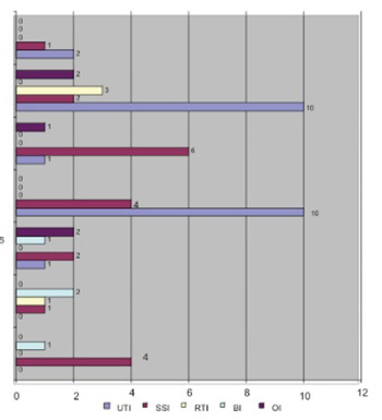 Surveillance of Intrahospital Infections at the Clinic for Gynaecology and Obstetrics