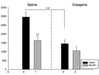 Effect of clozapine on locomotor activity and anxiety-related behavior in the neonatal mice administered MK-801