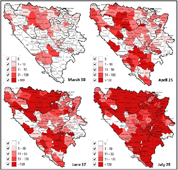 SARS-CoV-2 virus outbreak and the emergency public health measures in Bosnia and Herzegovina: January – July, 2020